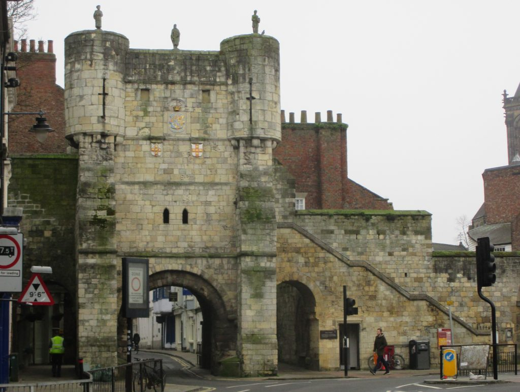 Photo of Bootham Bar from outside city walls, York