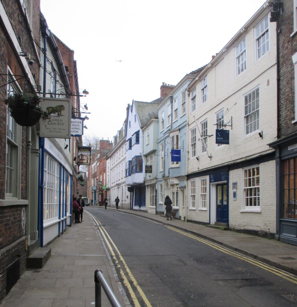 Photo of a quiet High Petergate, York