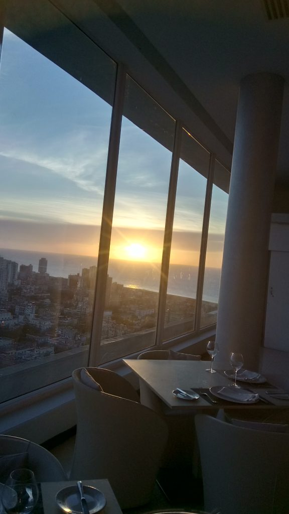 Sunset over Havana from 25th floor Havana Libre Restaurant