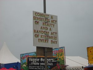 Sign At Festival