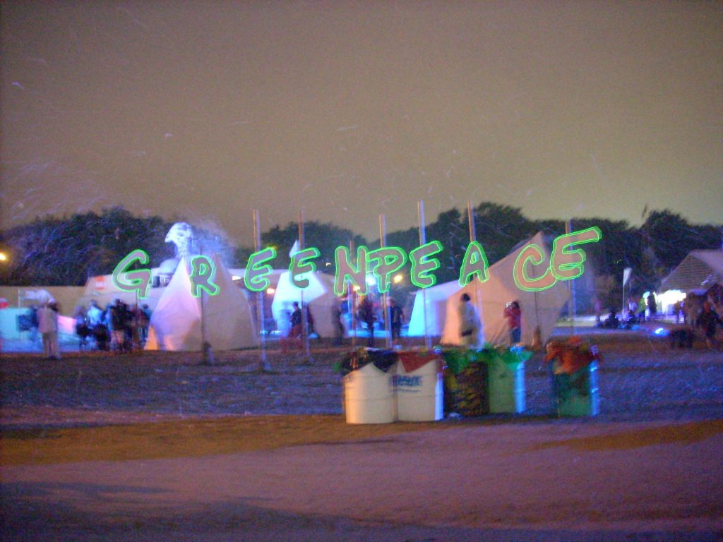 Greenpeace At Glastonbury